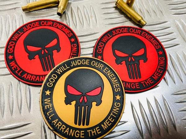PVC Rubber Patch - God Will Judge Our Enemies / We Will Arrange The Meeting