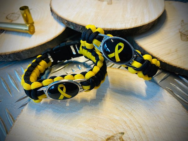 Paracord Armband - Thin Yellow Line / Soldiers / Soldaten - TOP